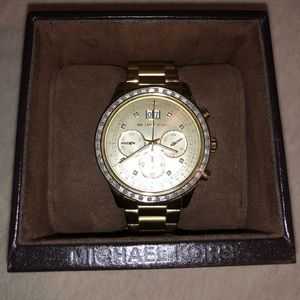 Gold Michael Kors Watch with Stopwatch